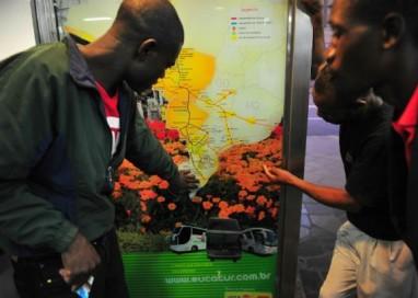 Equipes ficarão de prontidão para receber haitianos na rodoviária