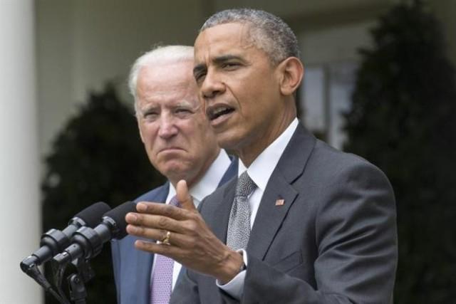 Obama discursou nesta manhã em Washington, acompanhado do vice, Joe Biden