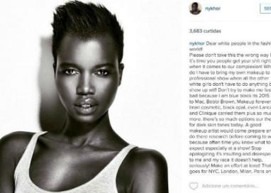 """Modelo desabafa contra racismo no mundo da moda: """"Não cubram a minha beleza natural"""""""