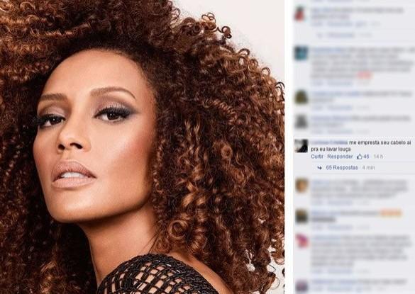Atriz Taís Araújo foi alvo de comentários racistas em sua página na Internet em 2015 Foto: Reprodução Internet