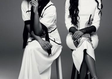 Maju Coutinho posa ao lado de Naomi Campbell em editorial de moda