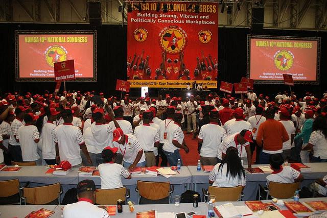 0º Congresso Nacional do Sindicato Nacional dos Metalúrgicos da África do Sul (Numsa), o maior sindicato no país / Camalita Naicker