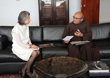 Ministra Cármen Lúcia se reúne com diretor da ONG Educafro