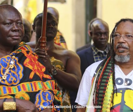 Olodum recebeu Otumfuo Osei Tutu II, Rei dos Ashanti, no Pelourinho