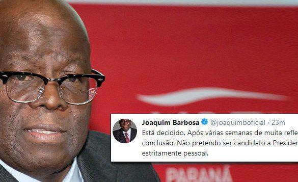 Joaquim Barbosa: Não concorrerá a presidente