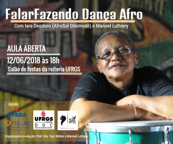 FalarFazendo dança afro –  Aula aberta com a mestra Iara Deodoro e Manoel Luthiery